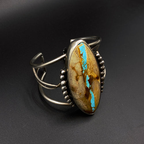 Ribbon Turquoise and Sterling bracelet
