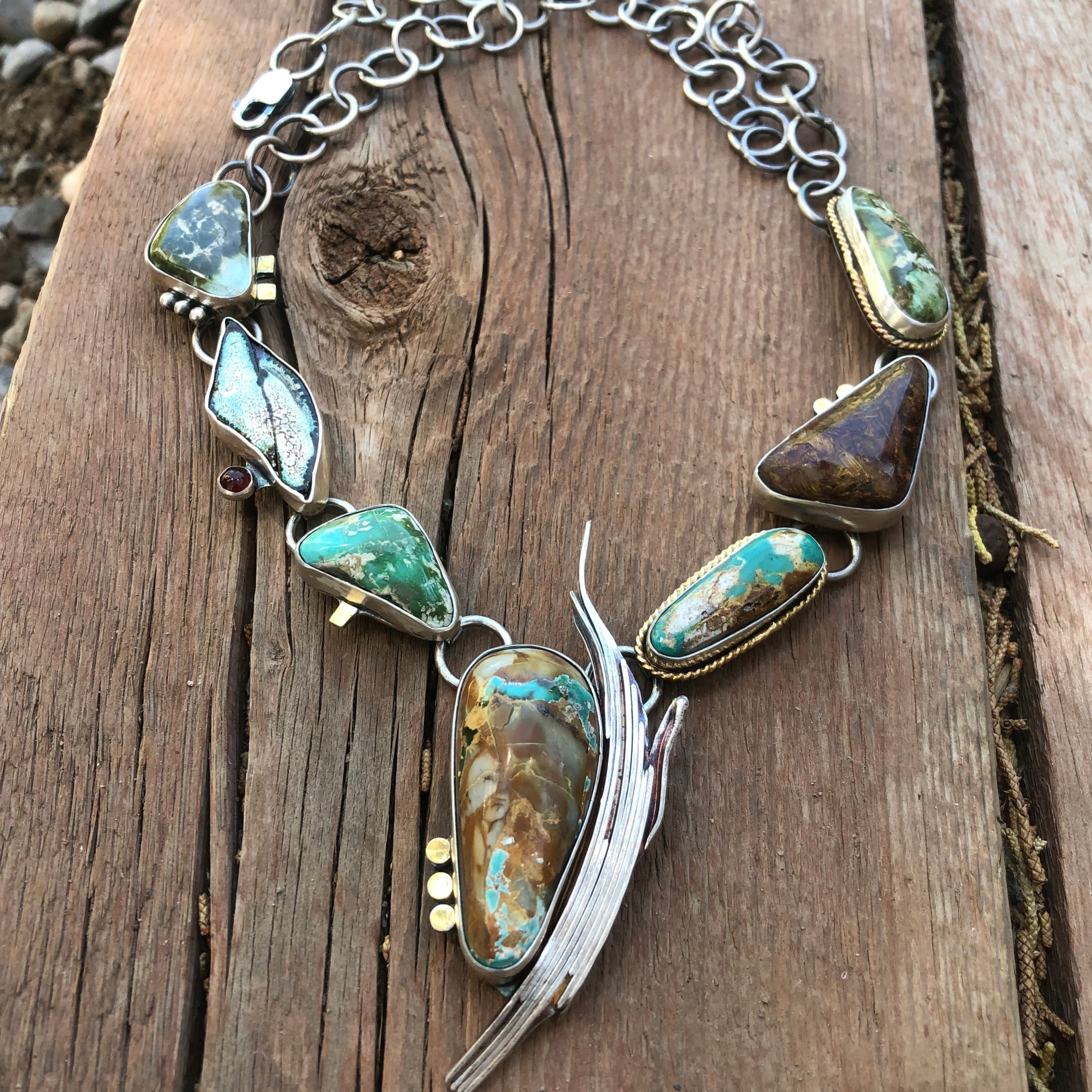 Stunning multi turquoise necklace
