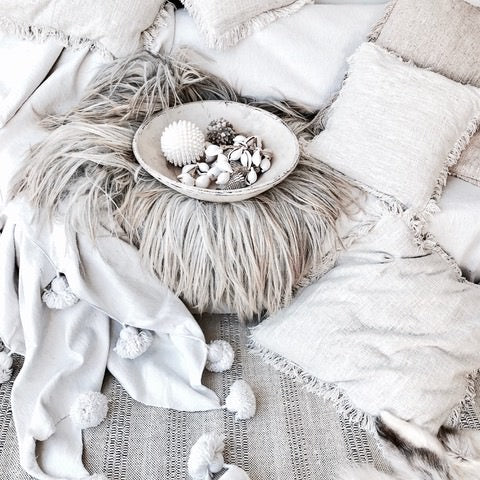ARVA Living items in the monochrome boho home of Isabelle @thebohemiandesign on Instagram