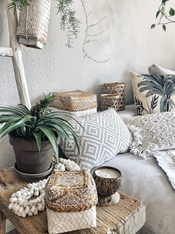 ARVA Living products in the boho home of Stefanie @tres.jolie.naehatelier on Instagram