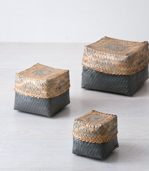 ABU bali basket set of 3 - boxes - ARVA Living
