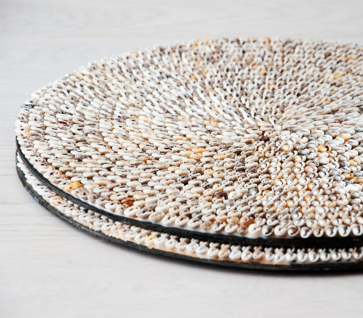 ARYA round shell placemat set of 6 - placemats - ARVA Living