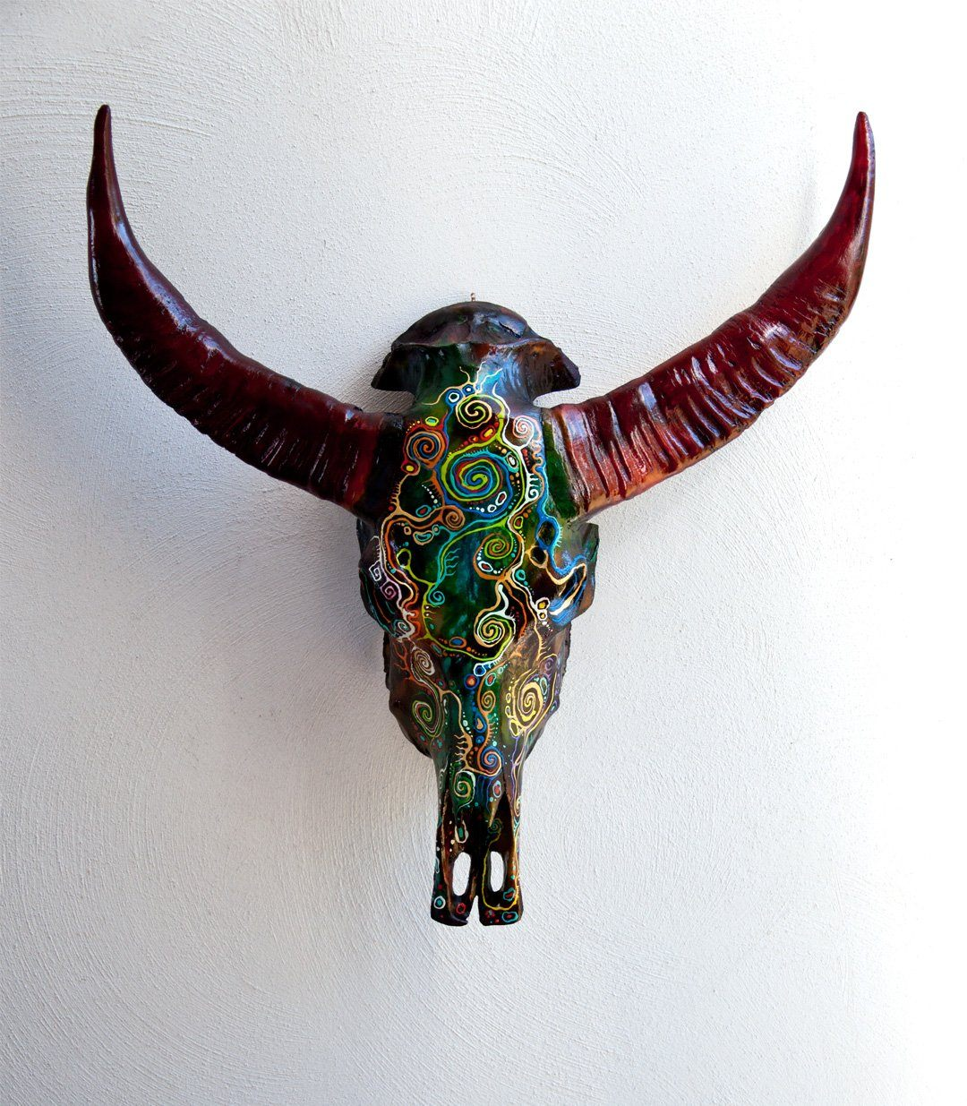 ASLI resin cow skull - arts - ARVA Living