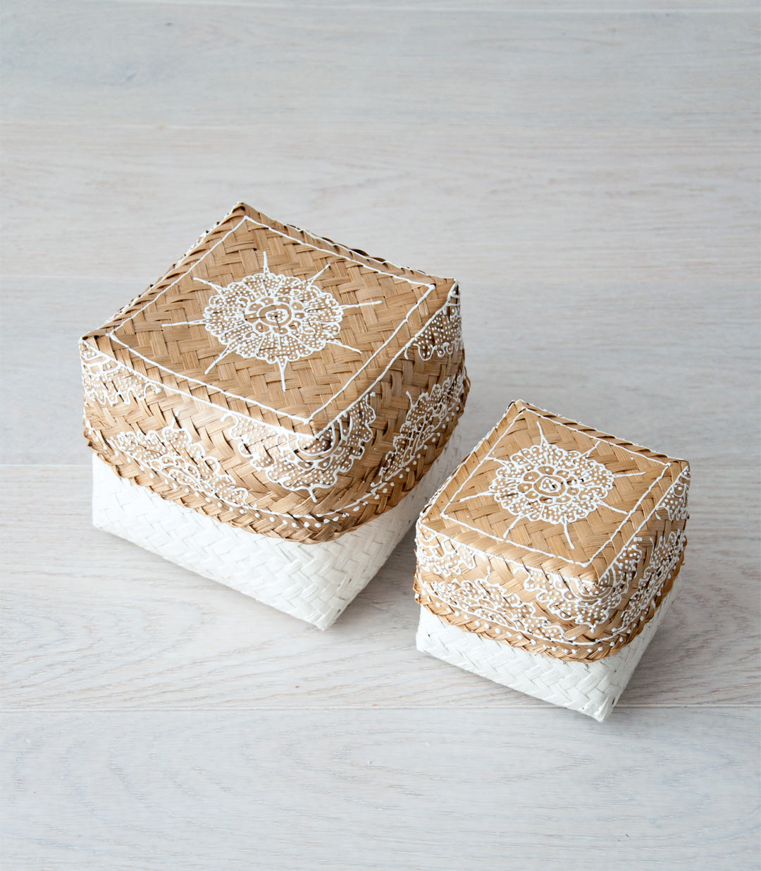 CAHYA bali basket set M & S - boxes - ARVA Living