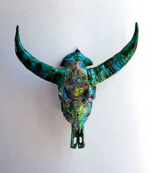 CIPTA resin cow skull - arts - ARVA Living
