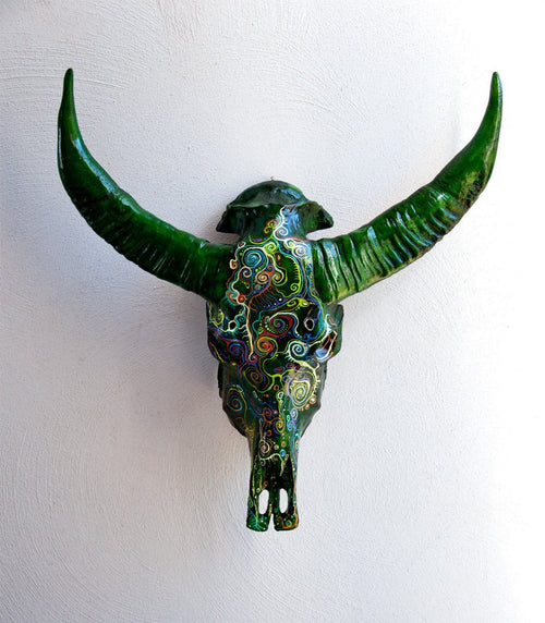 ERIN resin cow skull - arts - ARVA Living