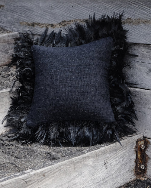 IVY cushion cover volcano black - cushions - ARVA Living