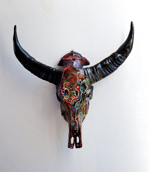JAWI resin cow skull - arts - ARVA Living