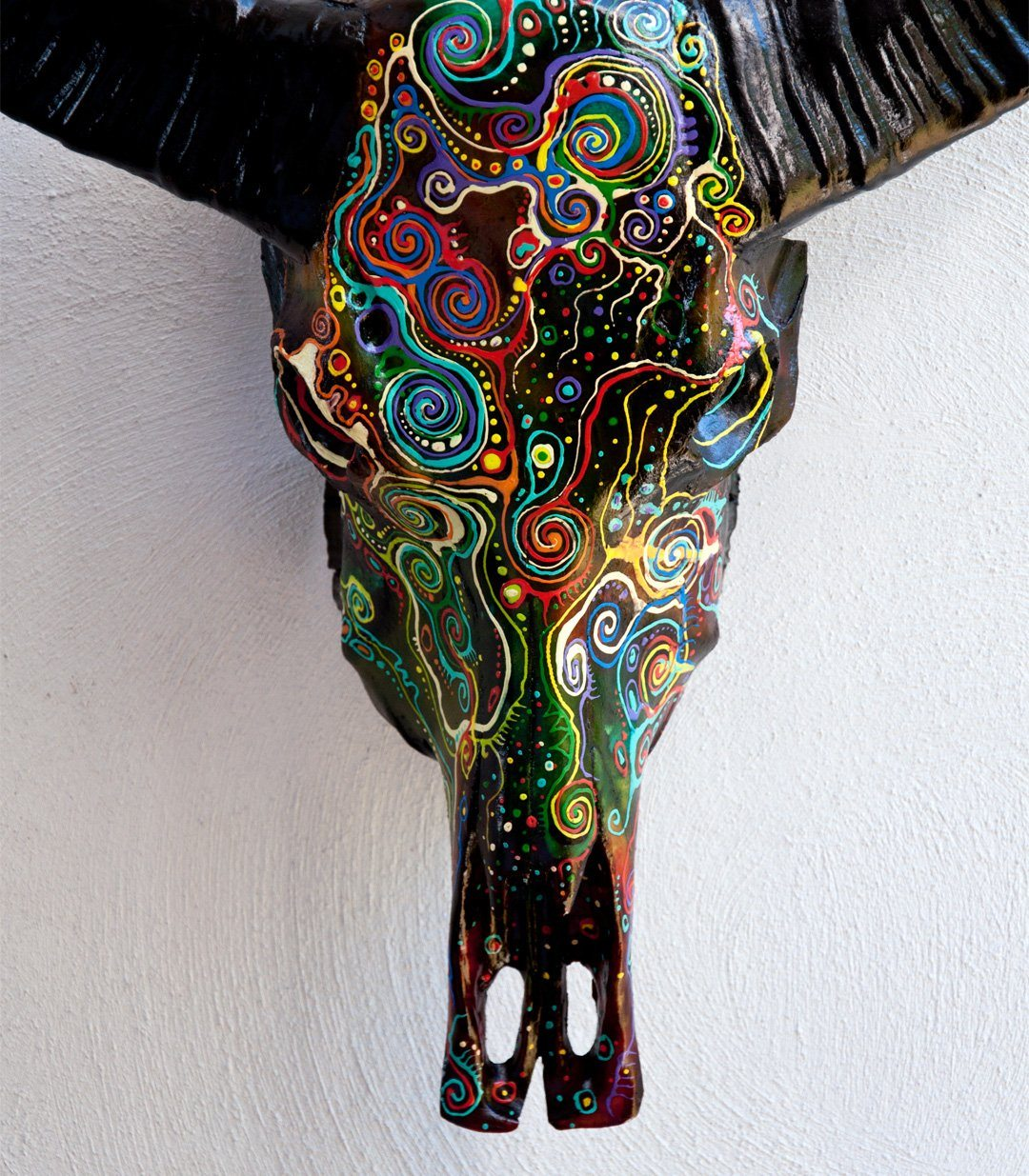 KERI resin cow skull - arts - ARVA Living