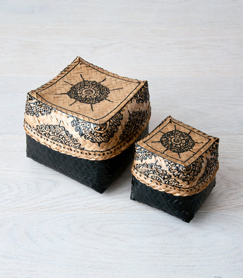 KRIS bali basket set M & S - boxes - ARVA Living