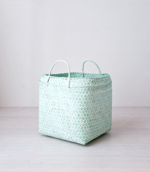 MARGA bamboo basket green - baskets - ARVA Living