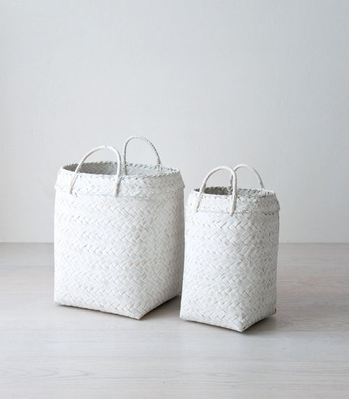 MARGA bamboo basket white - baskets - ARVA Living