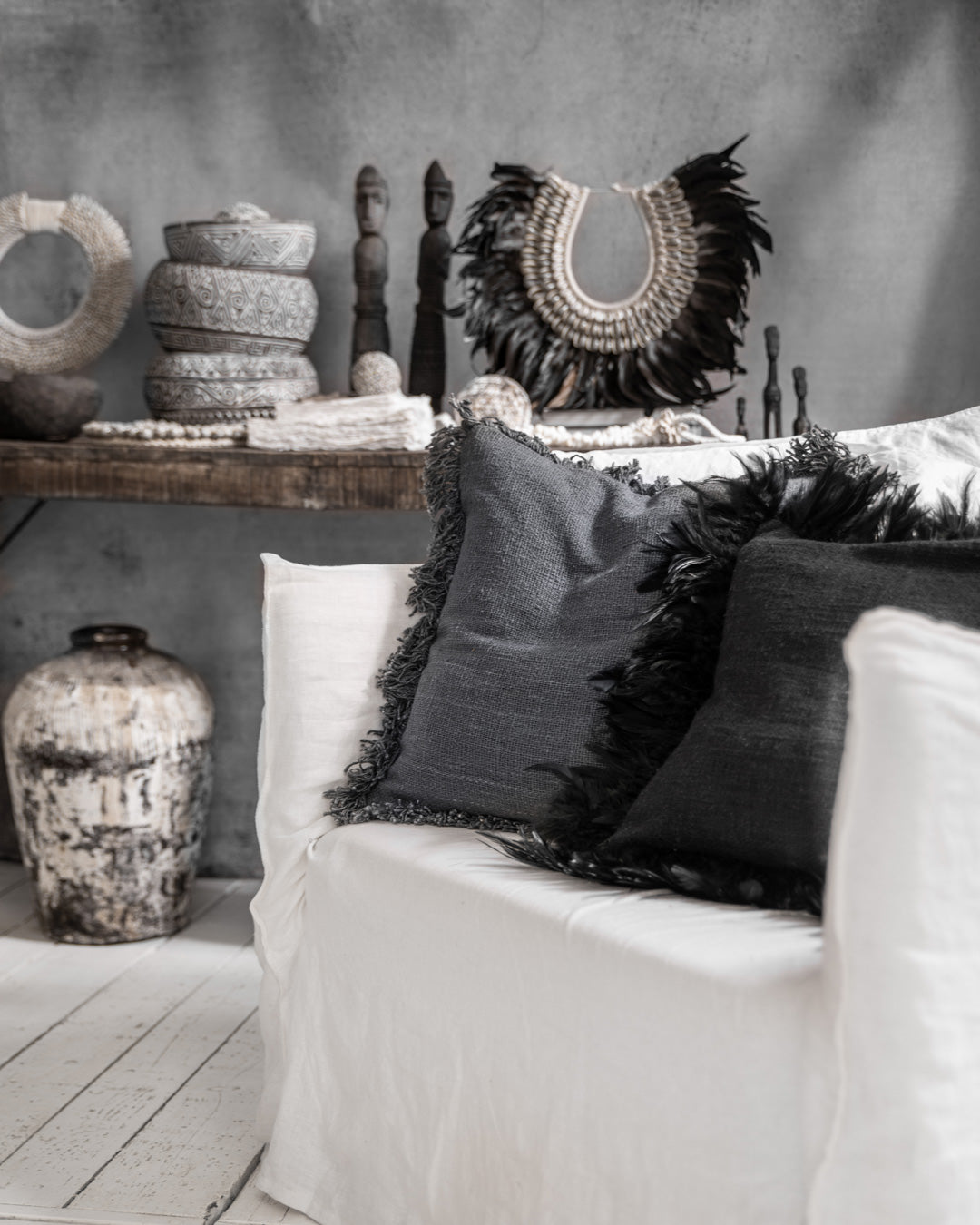 RAWA cushion cover stone grey - cushions - ARVA Living