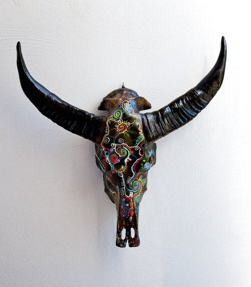 RONA resin cow skull - arts - ARVA Living