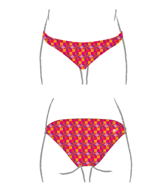 Women Swim Suit - Bikini - Rombus (Print) - Bottom Only