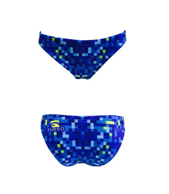 Women Swim Suit - Bikini - Pixel (Royal) - Bottom Only