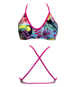Women Swim Suit - Bikini - Tucan Garden 2016 (Print) - Top Only