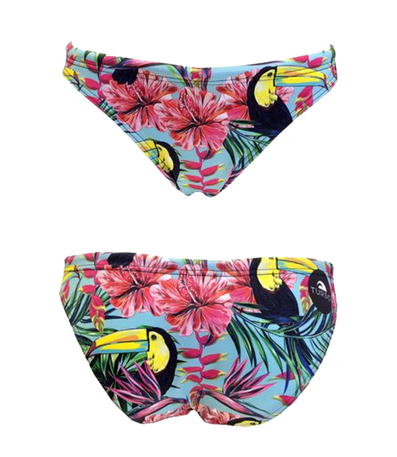 Women Swim Suit - Bikini - Tucan Garden 2016 (Print) - Bottom Only