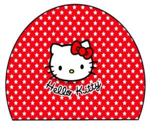 Swimming Cap - Polyamide & Elastane Junior (Kids) - Hello Kitty Stars (Red)