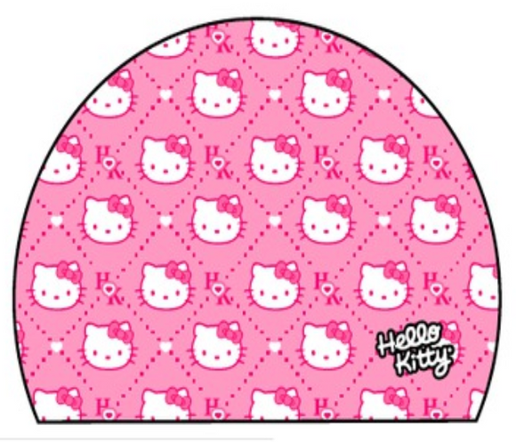 Swimming Cap - Polyamide & Elastane Junior (Kids) - Hello Kitty Faces (Pink)