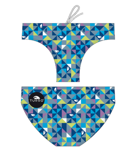 Men Swimming Trunks - Origami (Royal)