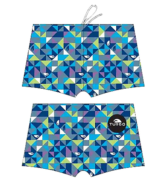 Men Boxer - Full Print - Origami (Navy)