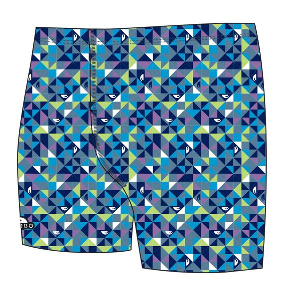 Boys Jammer Full-Print - Origami (Royal)