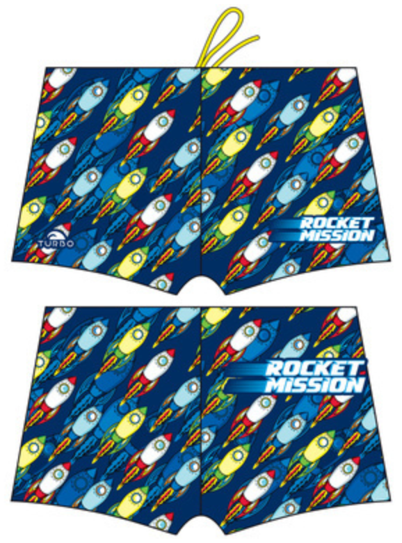 Boys Boxer - Full-Print - Rocket Mission (Royal)