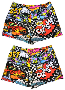 Boys Boxer - Full-Print - Comic Car (Red)