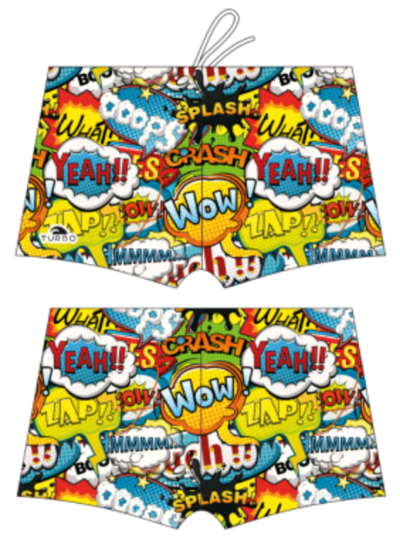 Boys Boxer - Full-Print - Wow (Yellow)