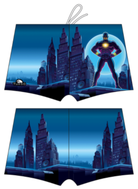 Boys Boxer - Full-Print - Hero (Royal)