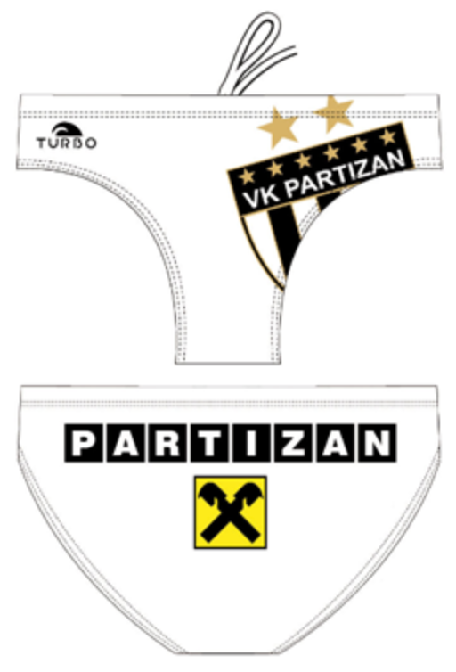 WP Men Trunks - Club VK Partizan (White)