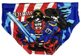 Boys Swimming Trunks - Spandex - Pirate (Print) Made In China