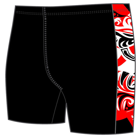 Boys Jammer Band-Print - Maori Skin Tattoo (Red/Black)