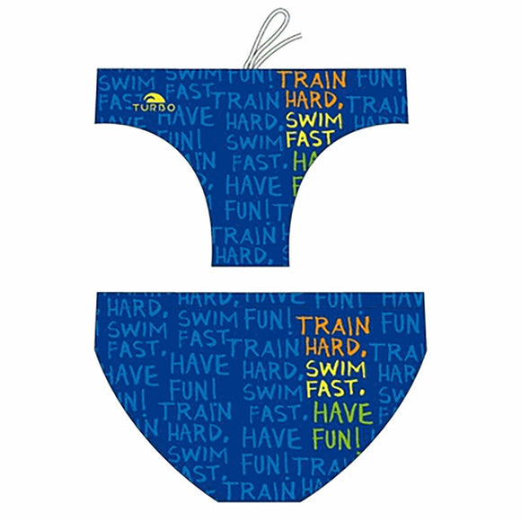 Boys Swimming Trunks - Train Hard (Royal)