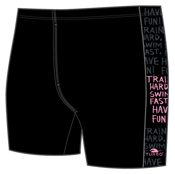 Boys Jammer Band-Print - Train Hard (Black)
