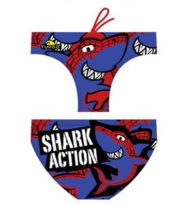Boys Swimming Trunks - Shark Action (Print)