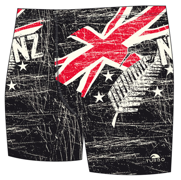 Boys Jammer Full-Print - New Zealand Vintage 2013 (Black & Red)