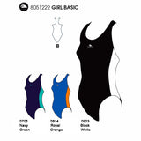 Girls Swim Suit - Basic (Black) 18% Lycra / 82% Polyamide