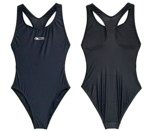 Girls Swim Suit - Basic (Black) 18% Lycra - Made In China