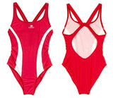 Girls Swim Suit - Duratech (Red & White) 47% PBT - Made In China