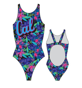 Women Swim Suit - Thick Straps - Cal (Navy)