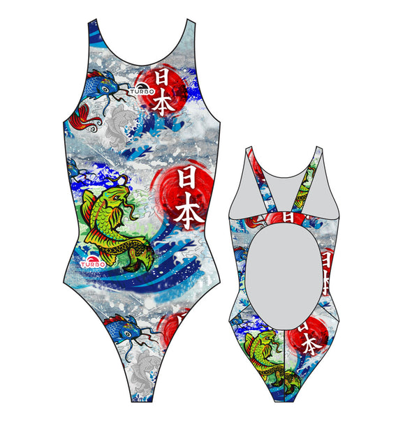 Girls Swim Suit - Wide Straps - JAPAN WALL 2016 (Royal)