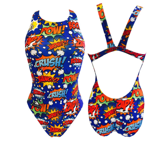 Girls Swim Suit - Wide Straps - BOOM !!! (Royal)