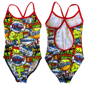 Girls Swim Suit - Happy Kids - Wow! (Yellow)