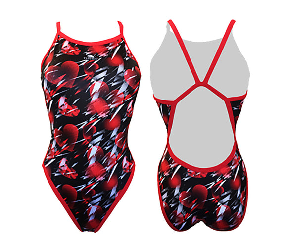 Women Swim Suit - Revolution Thin Straps - Amore (Red)