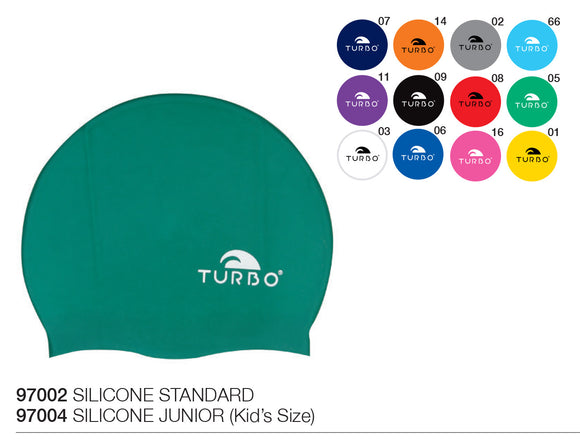 Swimming Cap - Silicone Junior (Kids) -  Plain (Multiple Colours)