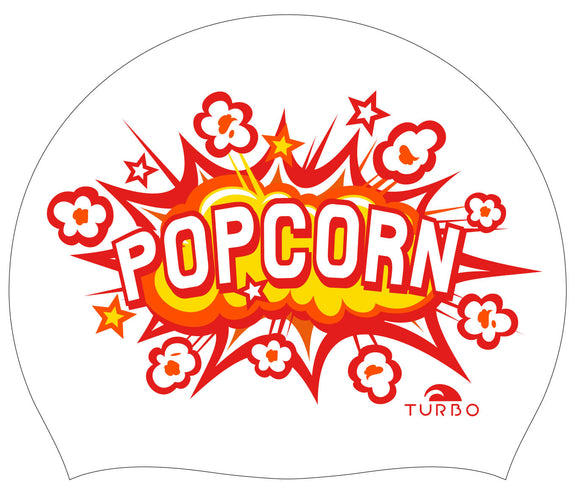 Swimming Cap - Suede Silicone Adult - Popcorn (White)