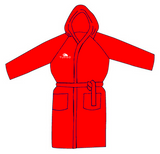 Bathrobe/Parka - Microfibre Quick Dry (Red) - Pre-Order