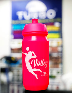 Water Bottle - Bidon - Volleyball (Luminous Pink)
